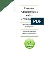 Resumen - Administración en las Organizaciones