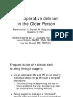Oct 6 - Postop Delirium in the Older Person (Brymer)