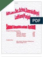 Sound Amplification System