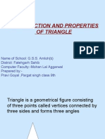 Construction and Properties of Triangle