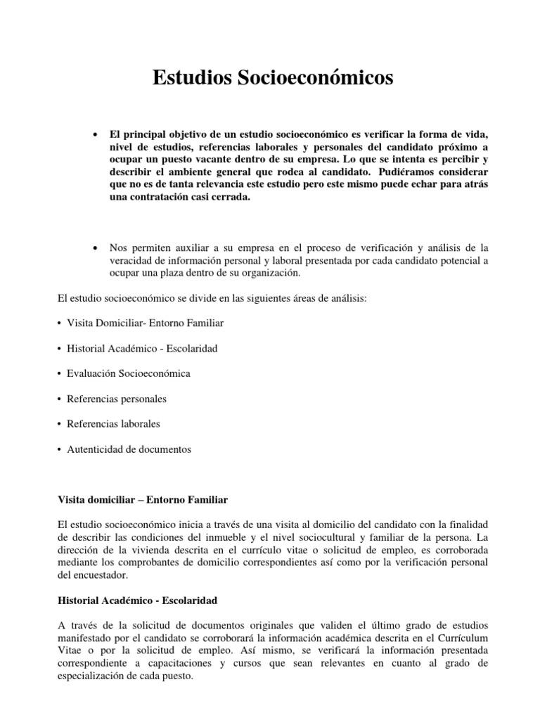 ESTUDIO SOCIO ECONO