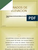 GRADOS DE ELEVACION