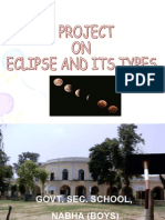 Project on Eclipse and Its Types