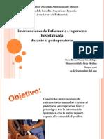 Intervenciones de Enfermeria Post Opera to Rio