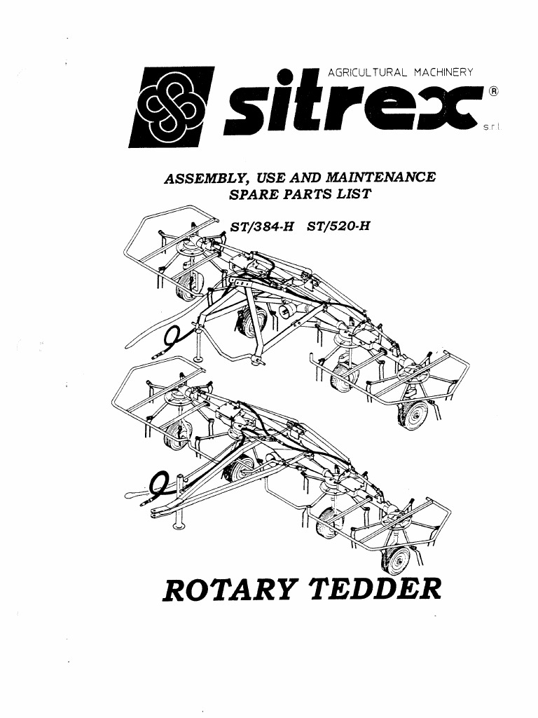 Tedder Sitrex ST-384 ST-520 Manual part1