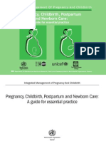 Pregnancy, Childbirth, Postpartum and Newborn Care