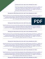 Mensaje de María Reina de la Paz del 25 de setiembre de 2011