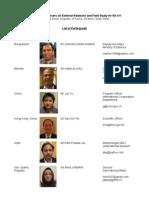 Participants List With Pictures