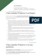 Instalacion de XP,7,UBUNTU