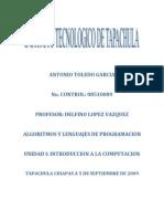 Unidad 1. Algoritmos y Lenguaje de Programacion