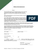 Affidavit of Non Abandonment