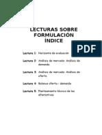 Lecturas sobre formulación