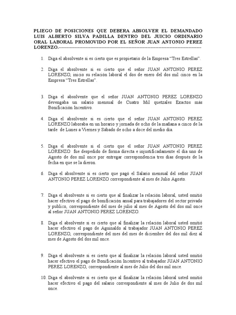 juicio ordinario laboral guatemalteco pdf