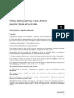 TRE_SC_Cargo Analista Judiciário_PROVA 1