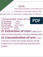 Extraction of IRON FROM ORE_Putligarh(G)_Amritsar