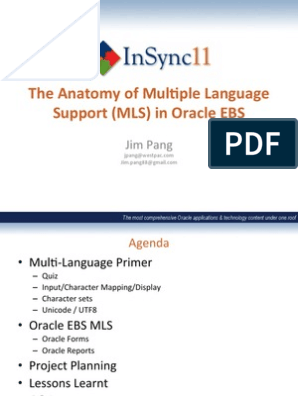 Ebusiness Suite 1 Jim Pang The Anatomy Of Multiple Language