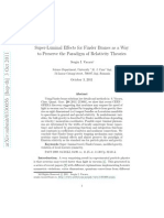 Super-Luminal Effects for Finsler Branes as a Way to Preserve the Paradigm of Relativity Theories