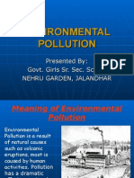 Environmental Pollution(Nehru Garden, Jalandhar