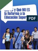 1. Qué es y qué no es la reforma