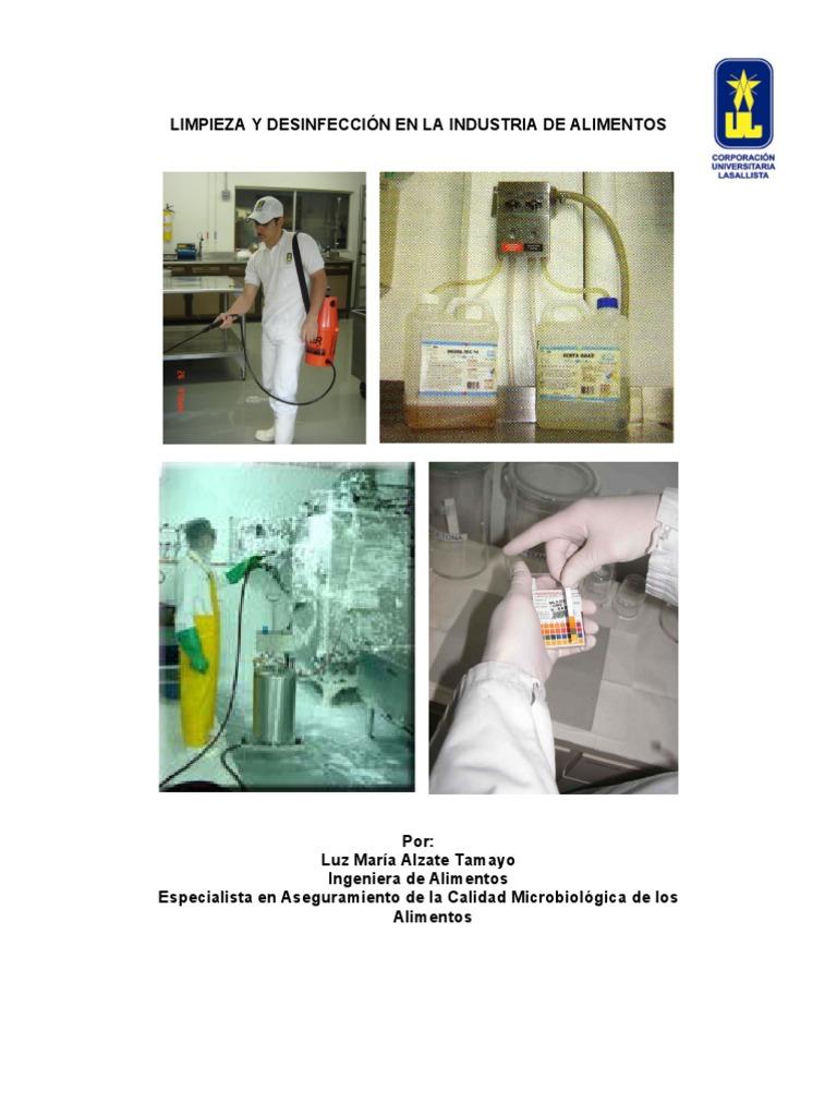 Limpieza y desinfeccion en la industria de alimentos for Limpieza y desinfeccion de equipos