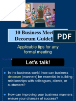 10 Business Meeting Decorum Guidelines