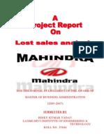 Mahindra Lost Sales Analysis