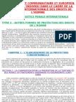 7 - Droit communautaire et européen - L'individu dans le cadre de la protection internationale des droits de l'homme