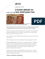 china currency debate