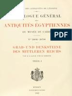 LANGE & SCHÄFER - Grab- und Denksteine des Mittleren Reichs im Museum von Kairo I (1902)