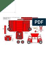 [Paper Model] [Truck] [Gauriat] 1956 Pompier Citroen HY