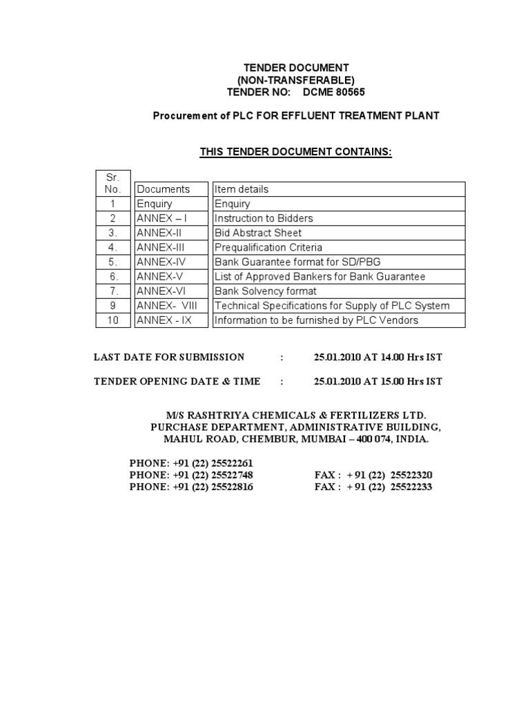 Rashtriya chemicals and fertilizers limited tenders dating