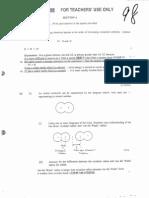 1998 AL Chemistry Paper 1+2 Marking Scheme
