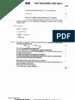 2001 AL Chemistry Paper II Marking Scheme