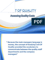 Coq - Assessing Quality Costs