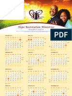 Hope Restoration Ministries Calendar 2011