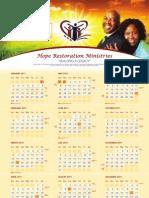 Hope Restoration Ministries Calendar 2011