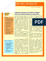Diaspora africaine et transfert d'argent