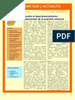 Mayotte et départementalisation