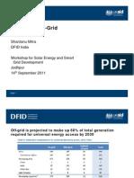 S10 Shantanu Mitra (DFID) - Financing Off-Grid Applications