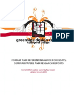 DESIGN CENTER BOOKLET Academic Writing Guidelines