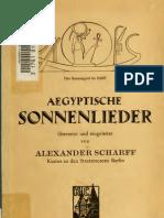 Alexander Scharff Agyptische Sonnenlieder 1922