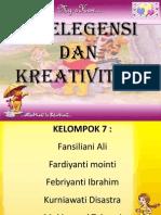 Pres. Intelegensi Dan Kreativitas