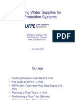 4.1 Fire Protection Measuring Water Supplies for Fire Protection Systems - Michael Klemenz, UFPE