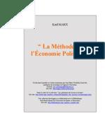 La Méthode de l'Économie Politique (K. Marx)