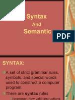 Syntax and Semantics