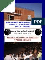 XLIII Congreso Argentino de Anatomía Rosario - 2006