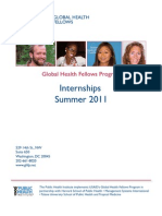 Summer 2011 Internship Program