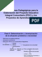 Orientaciones Pedagógicas para la Elaboración del  PEIC y los PA_Adonay