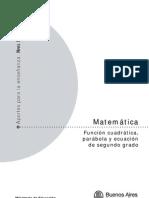 MatematicaFuncionCuadratica
