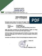 Surat Keterangan Pindah Universitas